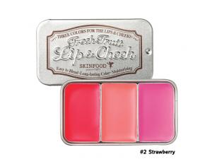 Skinfood Fresh Fruit Lip & Cheek Trio #2 Strawberry