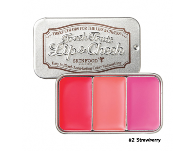 Skinfood Fresh Fruit Lip & Cheek Trio #2 Strawberry