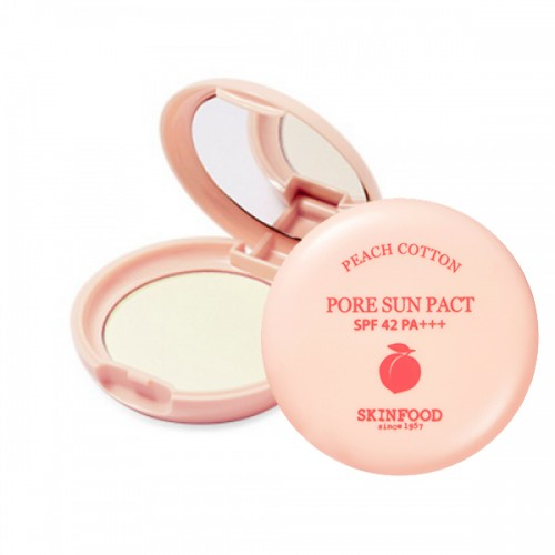 Skinfood Peach Cotton Pore Sun Pact SPF42 PA+++ #1 Clear