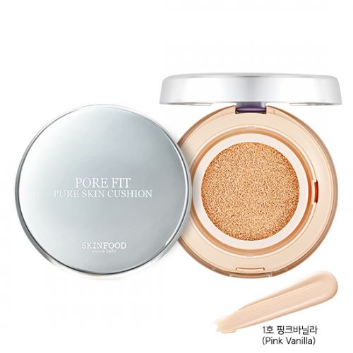 Skinfood Pore Fit Pure Skin Cushion SPF50+ PA+++ #1 Pink Vanilla