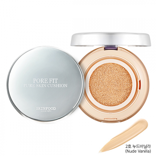 Skinfood Pore Fit Pure Skin Cushion SPF50+ PA+++ #2 Nude Vanilla
