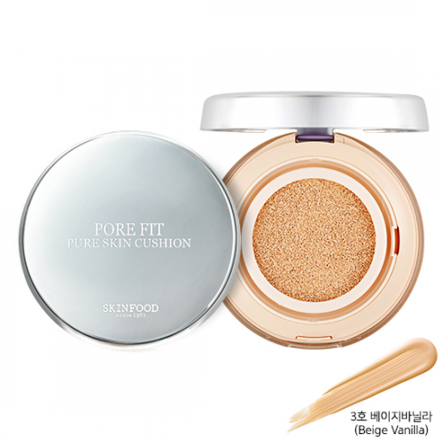 Skinfood Pore Fit Pure Skin Cushion SPF50+ PA+++ #3 Beige Vanilla