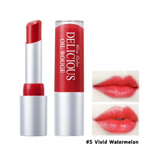 Skinfood Vita Color Delicious Oil Rouge #5 Vivid Watermelon