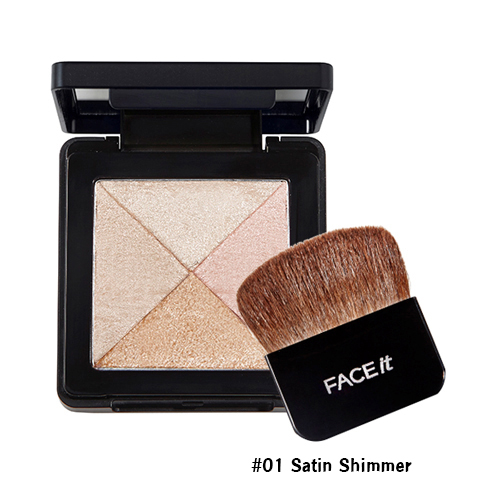 TheFaceShop Lesson 04 Artist Cube Blusher #01 Satin Shimmer