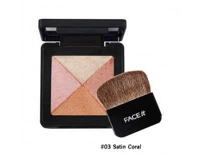 TheFaceShop Lesson 04 Artist Cube Blusher #03 Satin Coral