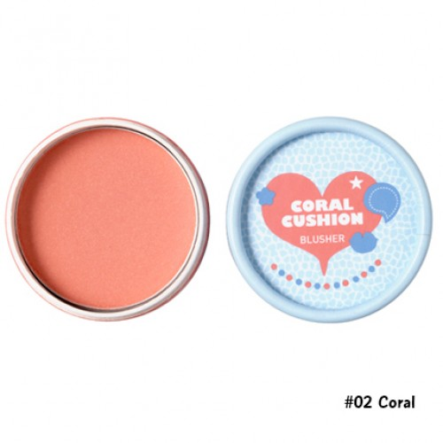 TheFaceShop Lovely ME : EX Pastel Cushion Blusher #02 Coral