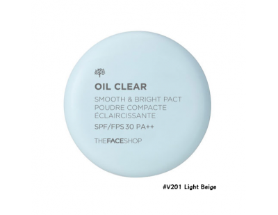 TheFaceShop Oil Clear Smooth & Bright Pact SPF30 PA++ #V201 Light Beige