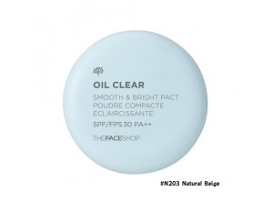 TheFaceShop Oil Clear Smooth & Bright Pact SPF30 PA++ #N203 Natural Beige