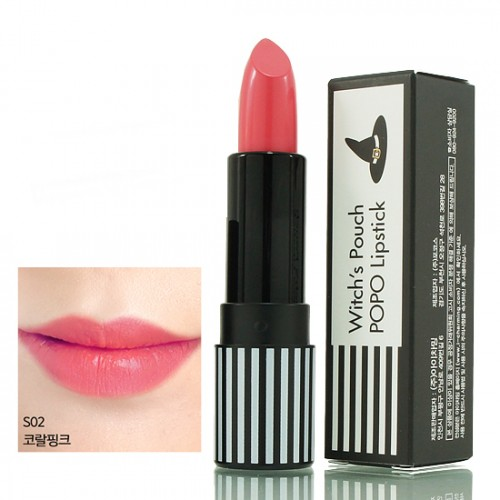 Witch's Pouch POPO Lipstick #S02 Coral Pink