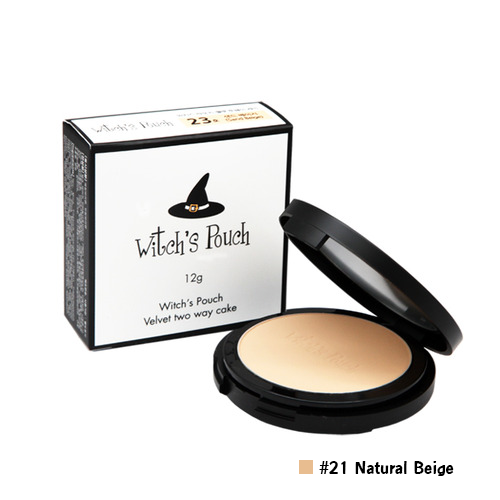 Witch's Pouch Velvet Two Way Cake #21 Natural Beige