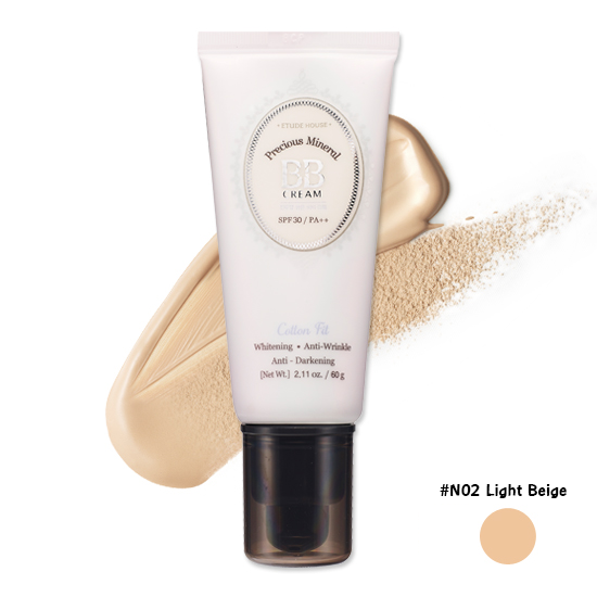 Etude House Precious Mineral Cotton Fit BB Cream SPF30 PA++ #N02 Light Beige